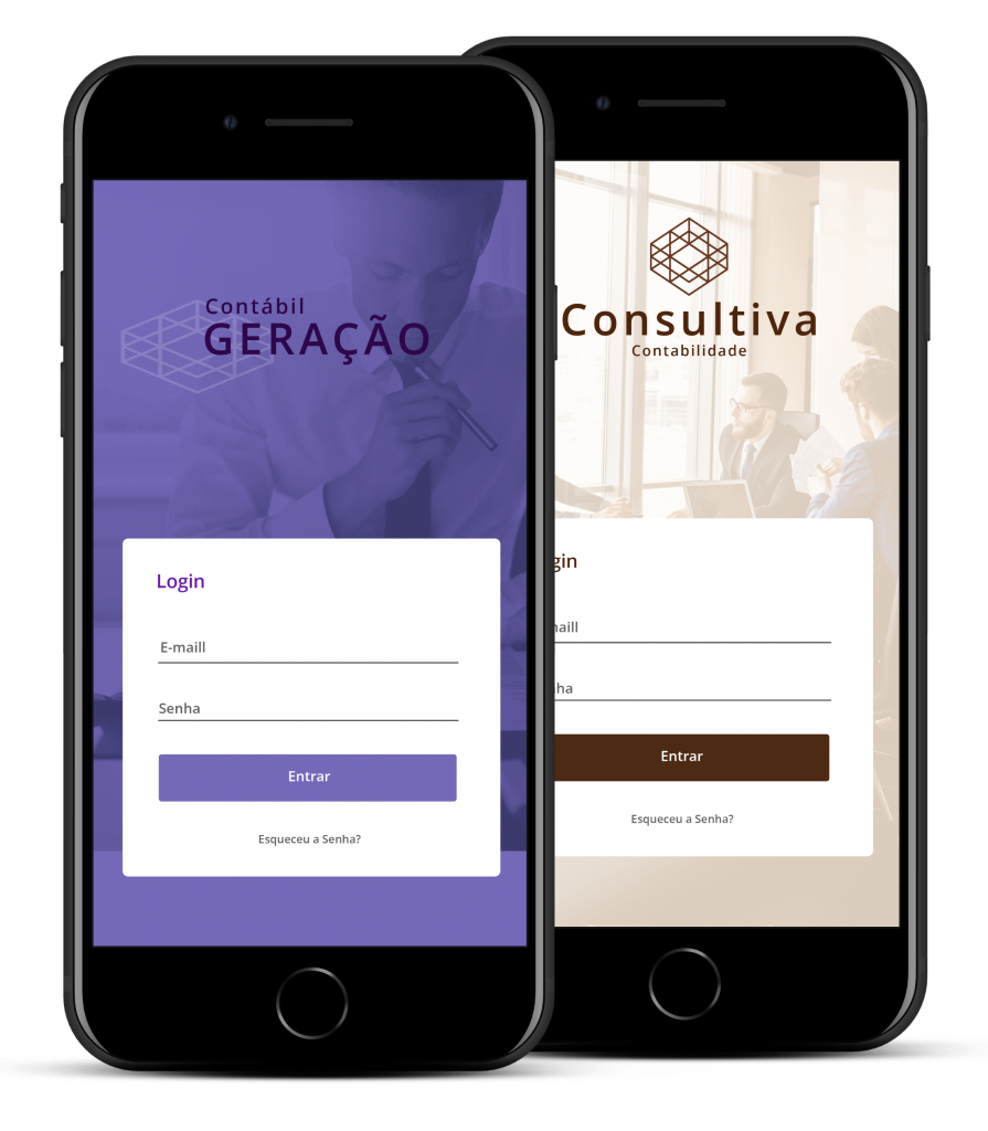 App para contadores personalizado com a identidade do seu escritório contábil