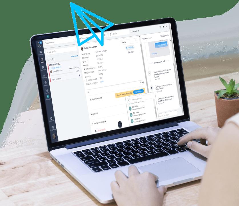 Sistema para escritórios de contabilidade - Gestta - Envie um email sem sair da tarefa